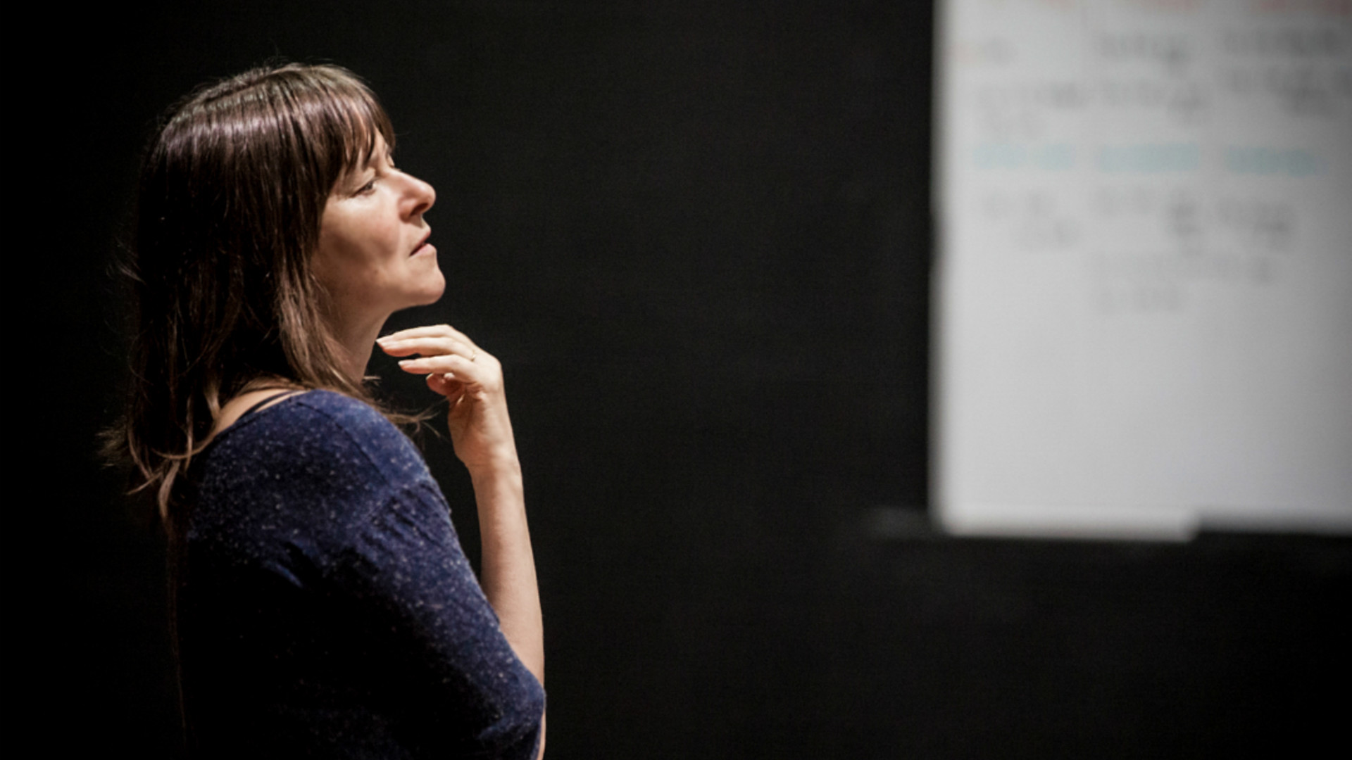 Lucy Guerin in rehearsals